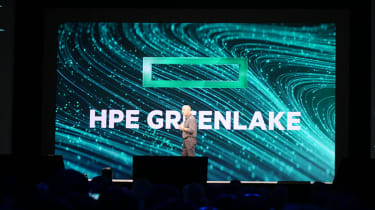 HPE CEO Antonio Neri onstage at HPE Discover 2019
