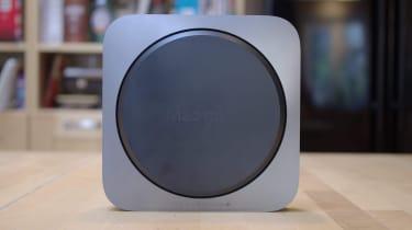 The underside of the Apple Mac Mini (2018)