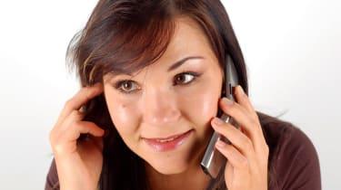 talking on phone