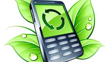 green mobile phone