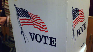 US election voting booth