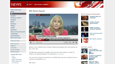 BBC News streaming via the web.