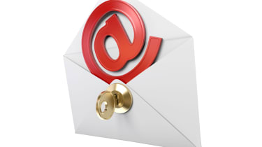 Email envelope with a key in it