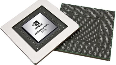Nvidia chip on a white background