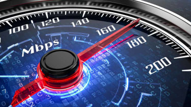 Speedometer with Mbps on it