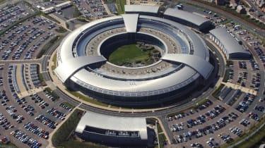 An aerial shot of the GCHQ building