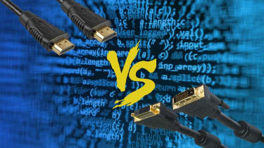 A graphic contrasting HDMI and DVI cables