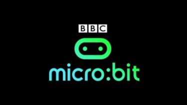 BBC micro:bit logo on black background