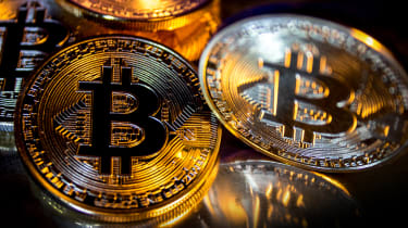 Abstract image of bitcoin