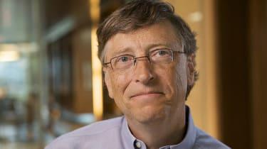 Bill Gates in a headshot frame