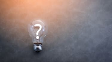 A lightbulb with a question mark within it