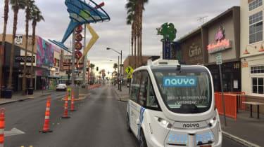 Navya driverless shuttle