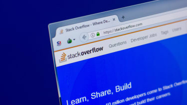 Image of the homepage for StackOverflow