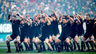 All Blacks performing the Hacker