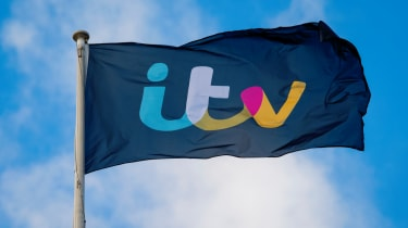 ITV logo on flying flag