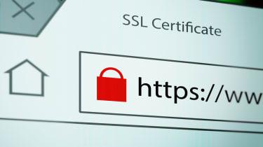SSL security padlock on a URL address bar