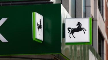 Lloyds bank sign on branch