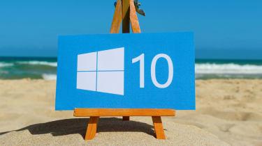 Image of the Windows logo on a beach to represent a sandbox mode