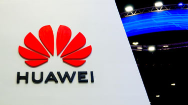 huawei logo at a conference