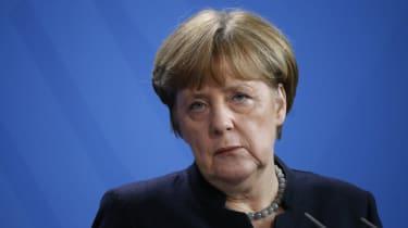 Angela Merkel not looking very happy
