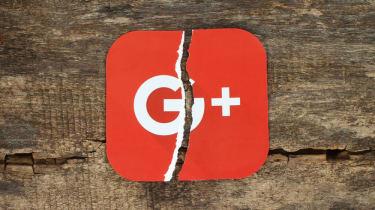 The Google Plus logo split in half