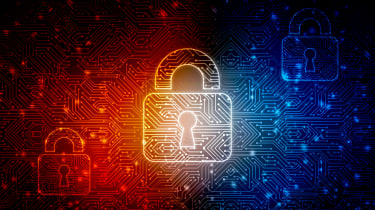 A digital padlock representing security