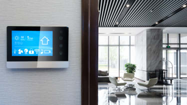 An office with an IoT device