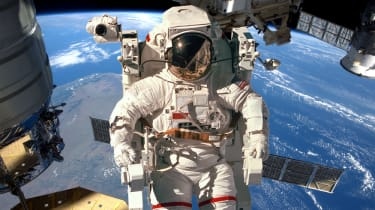 Astronaut on space walk
