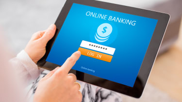 Banking via a tablet
