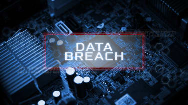 Data Breach overlaying a circuitboard