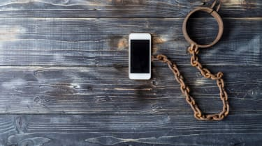 Smartphone with chain attached