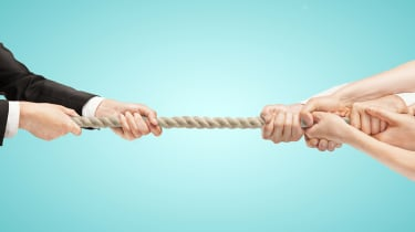 Tug of war or struggle for control