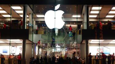External shot of a flagship Apple store