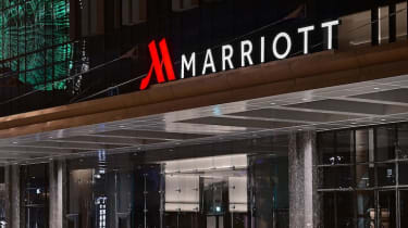 Marriott hotel sign
