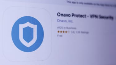 A screenshot of the Onavo Protect app listed on an app store