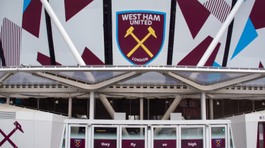 Exterior shot of West Ham's new stadium