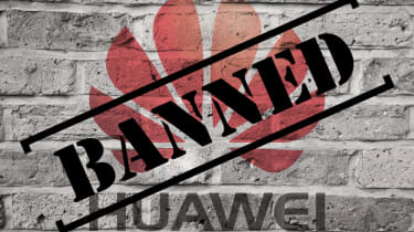 Huawei logo with banned