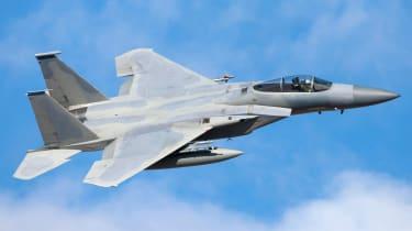 Armed fighter jet