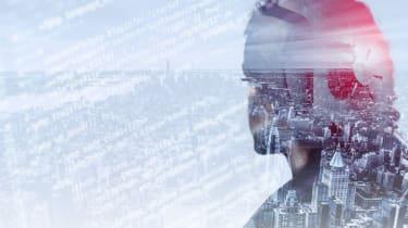 Cyber crime digital head