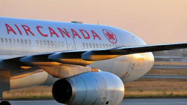 AirCanada plane taking off