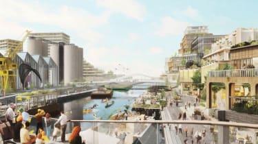 Mock up of Toronto smart city waterfront