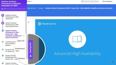 Cloud Academy interface