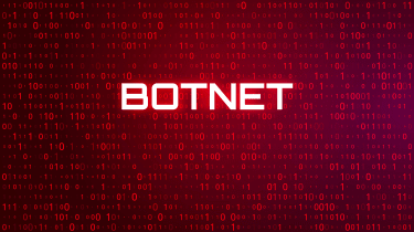Botnet on a red background