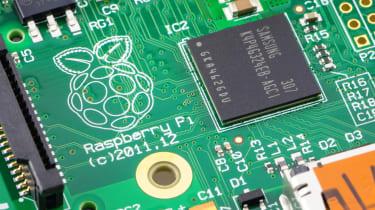Image of Raspberry Pi running Raspbian