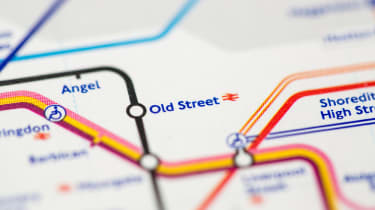 Old Street on tube map