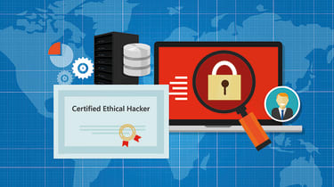 A graphic depiction of an ethical hacker certificate