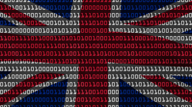 British flag with binary on it