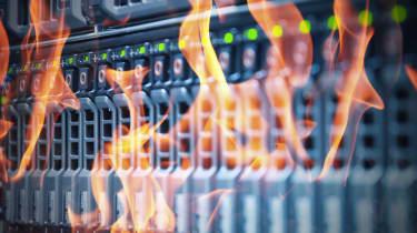 data center on fire