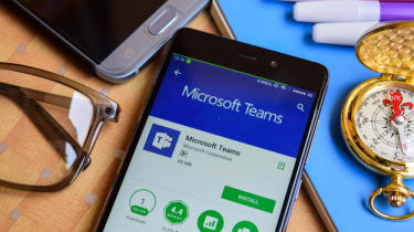 The Microsoft Teams app used on a smartphone