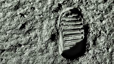 Apollo 11 boot print on the moon
